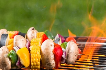 Catering vegetarische barbecue